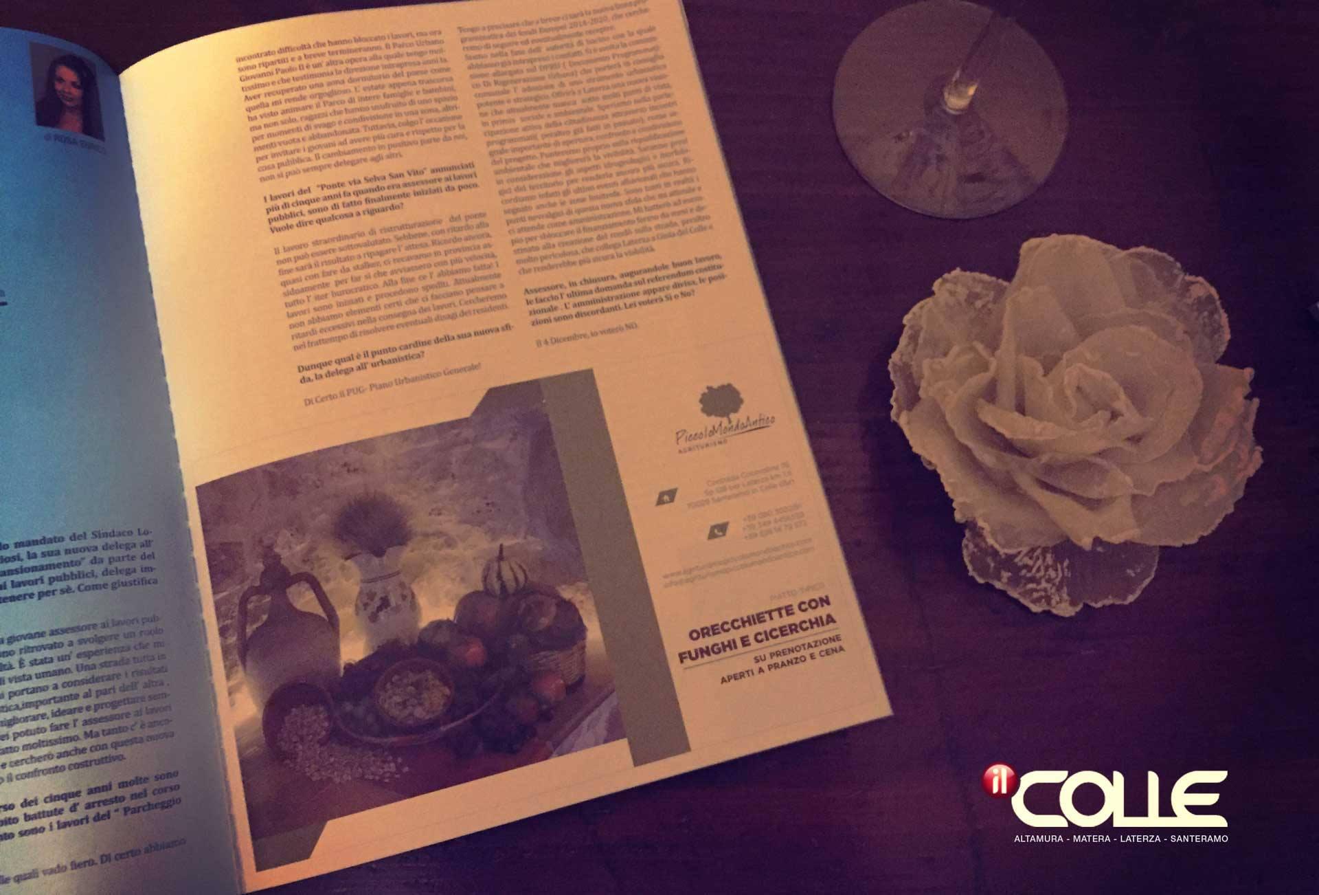 La nostra pubblicità sul giornale 'Il Colle'